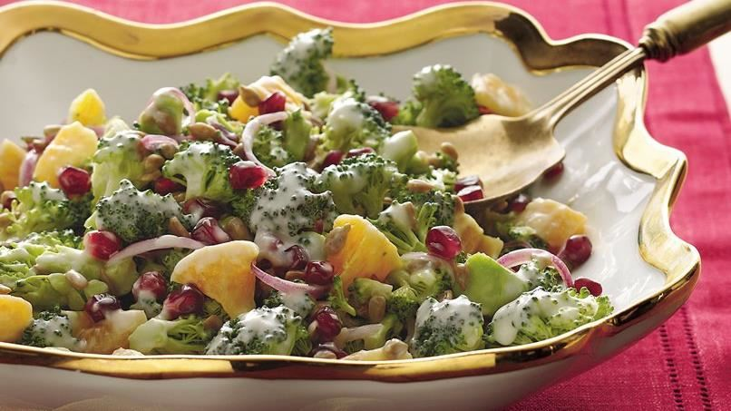 Pomegranate and Citrus Broccoli Salad