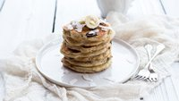 Dark Chocolate Coconut Banana Bread Pancakes