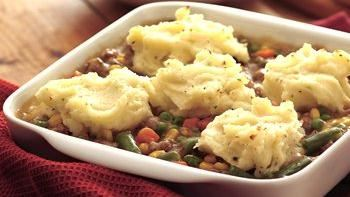 Mashed Potato and Sausage Casserole