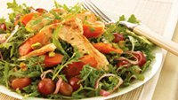 Roasted Carrot and Chicken Salad