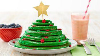 Christmas Tree Pancake Stacks