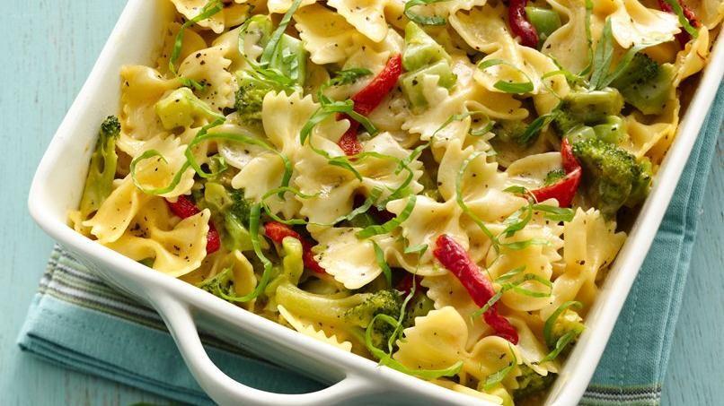 Pasta estilo Alfredo con Queso y Brócoli