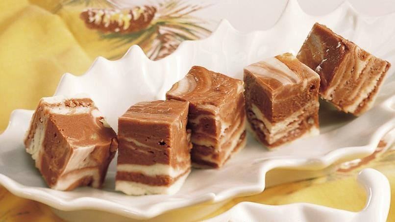 Creamy Chocolate Marble Fudge