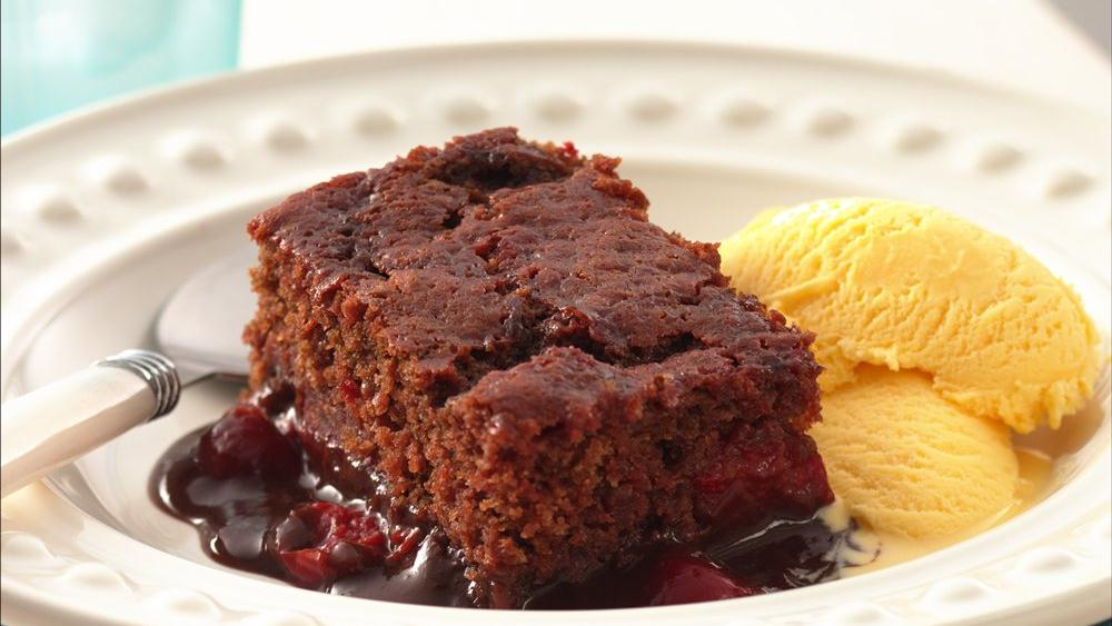 Cherry Chocolate Pudding Cake