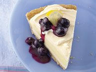 Blueberry-Topped Lemon Ice-Cream Pie