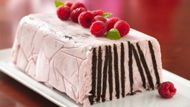 Frozen Chocolate Wafer Raspberry Torte