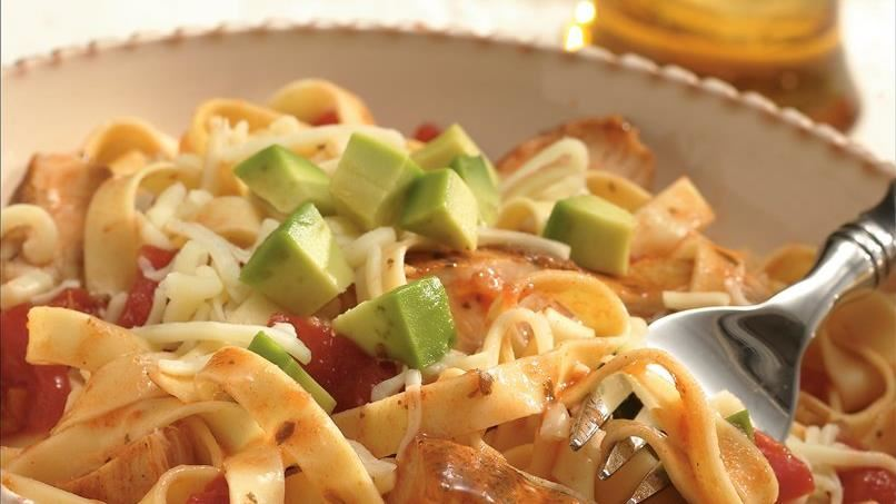 Southwest Chicken and Fettuccine