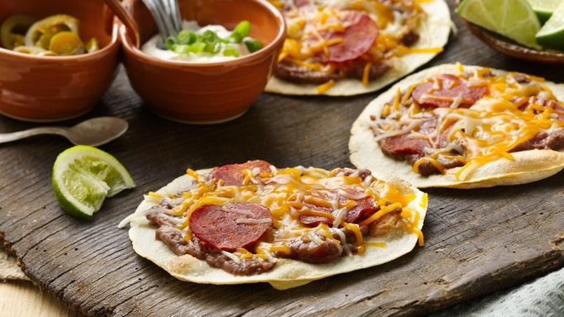 Mexican Pepperoni Pizzas