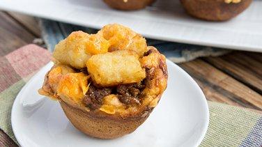 Mini Beef-and-Potato Nugget Casseroles
