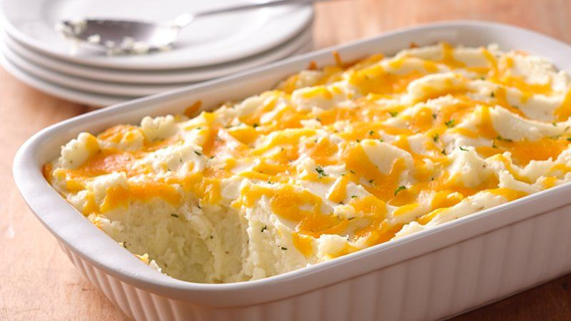 Two-Cheese and Rosemary Mashed Potato Casserole recipe from Betty ...