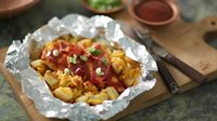 Double Barbecue Bacon Chicken Foil Packs
