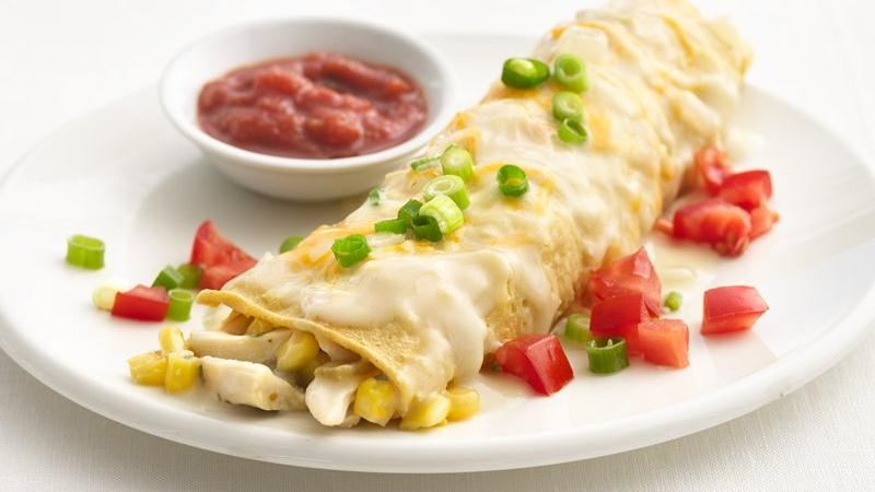 Healthified Creamy Chicken Enchiladas