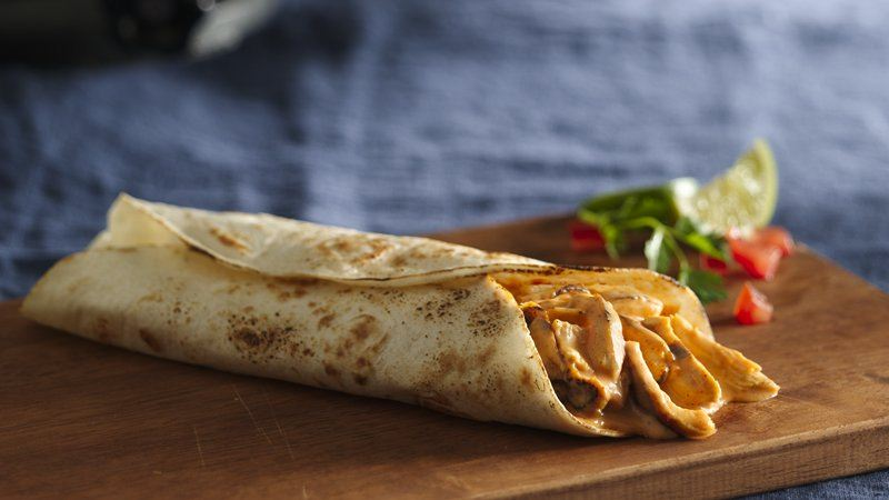 Cheesy Chicken Burritos