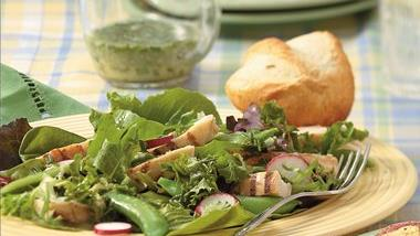 Chicken, Sugar Snap Pea and Radish Salad