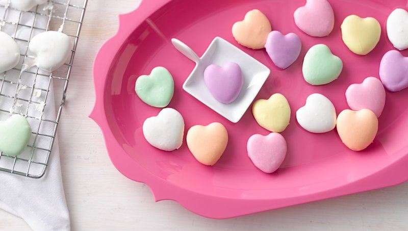 Mini Conversation-Heart Cookies
