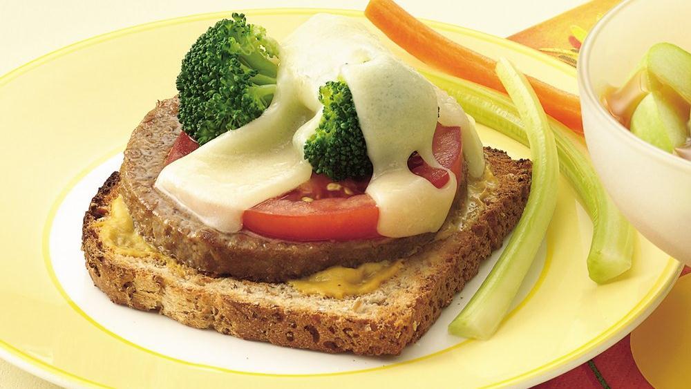 Open-Faced Veggie Burger Melts