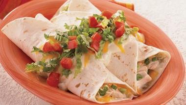Light Sour Cream Chicken Enchiladas