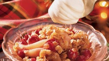 Pear-Cranberry Crisp