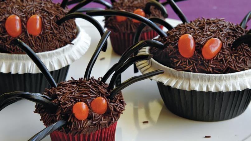Halloween Tarantula Mini Cupcakes