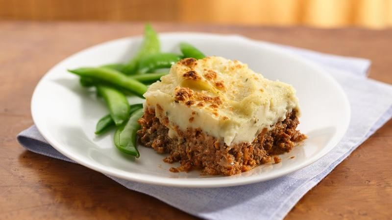 Garlic Potato-Topped Italian Meat Loaf