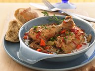 Braised Chicken with Wild Mushrooms and Thyme