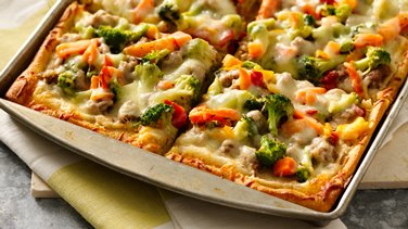 White Bean Sausage and Veggie Pizza