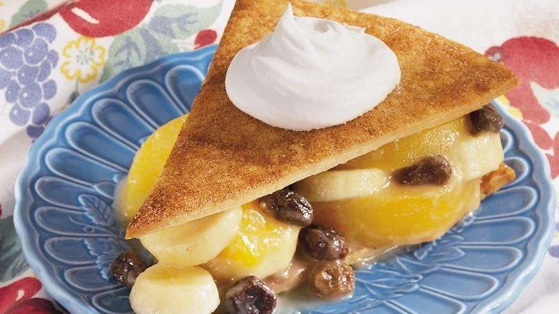 Stacked Banana-Peach Pie