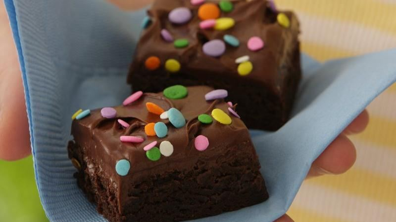 Candy-Sprinkled Frosted Brownies