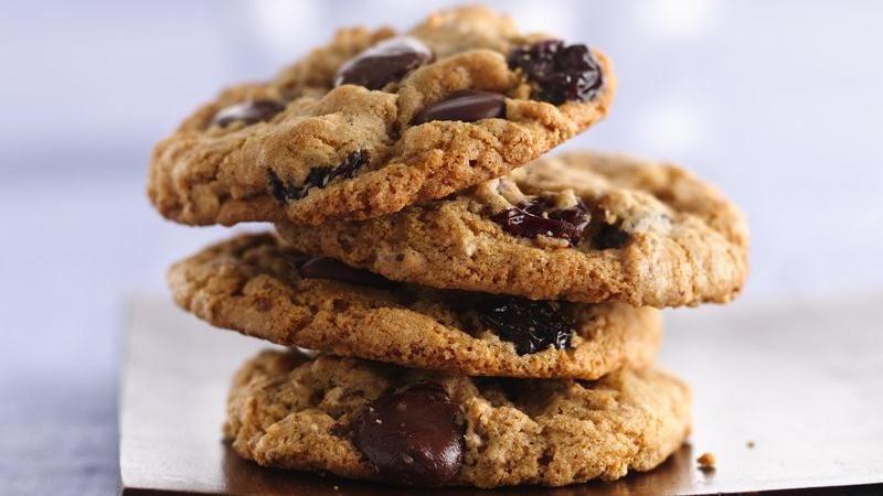 Dark Chocolate Cherry Multigrain Cookies