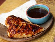 Grilled Chicken with Orange-Chipotle Glaze