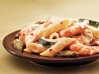 Penne with Shrimp and Vegetables