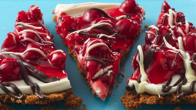 Cherry Cream Pizza with Tuxedo Topping