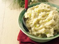 Leek and Garlic Mashed Potatoes