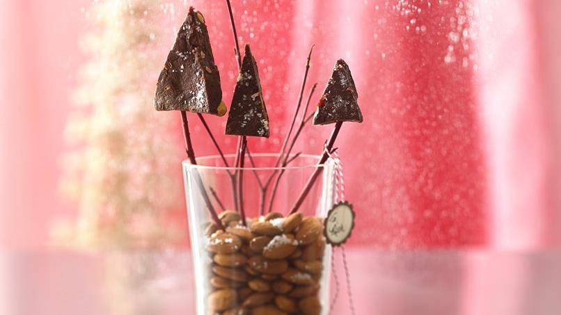 Salted Chocolate Almond Fudge