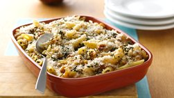 Bacon and Caramelized Onion Mac and Cheese