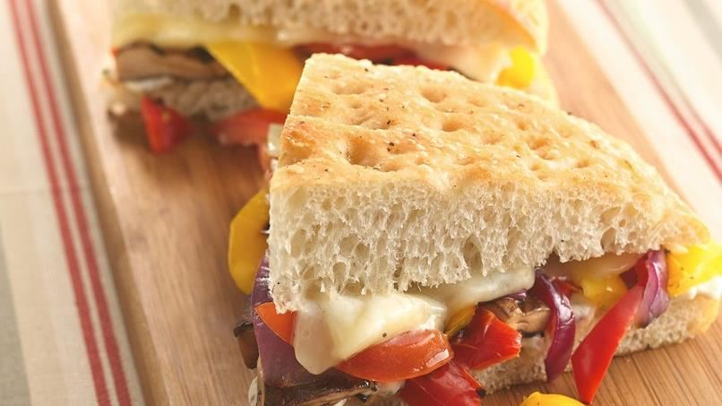 Grilled Vegetable Focaccia