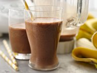 Chocolate-Peanut Butter-Banana Smoothies