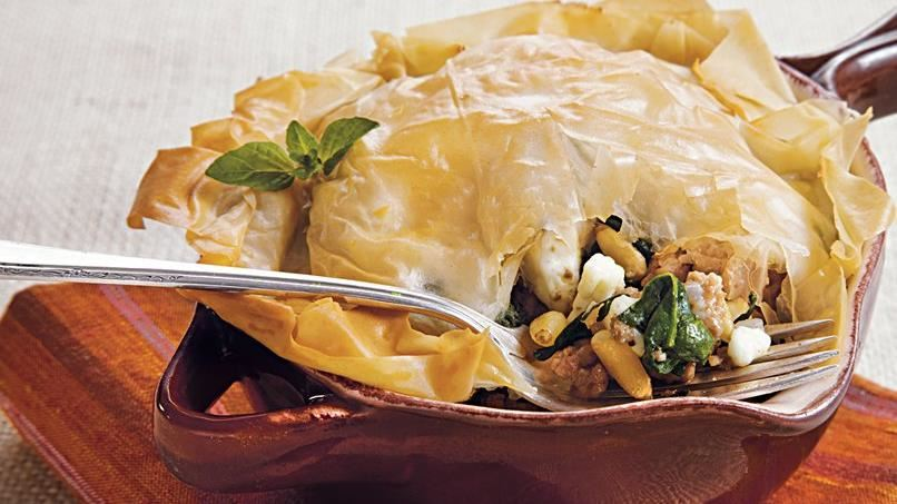 Turkey-Feta Phyllo Bake