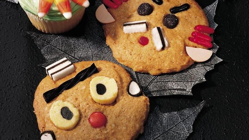 Make-a-Face Pumpkin Cookies