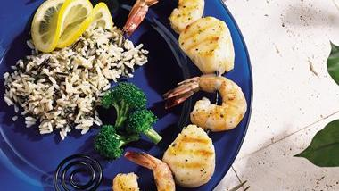 Shrimp and Scallop Kabobs