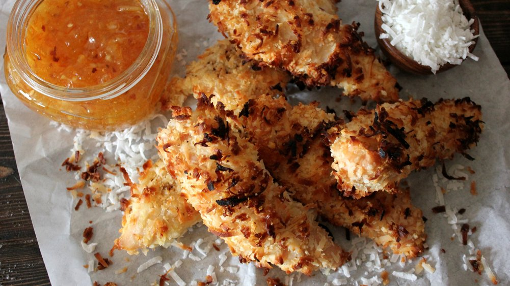 Coconut-Crusted Chicken Tenders