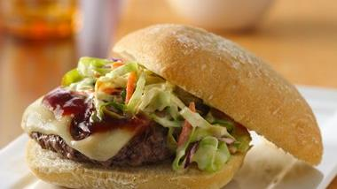 Coleslaw-Topped BBQ Cheeseburgers