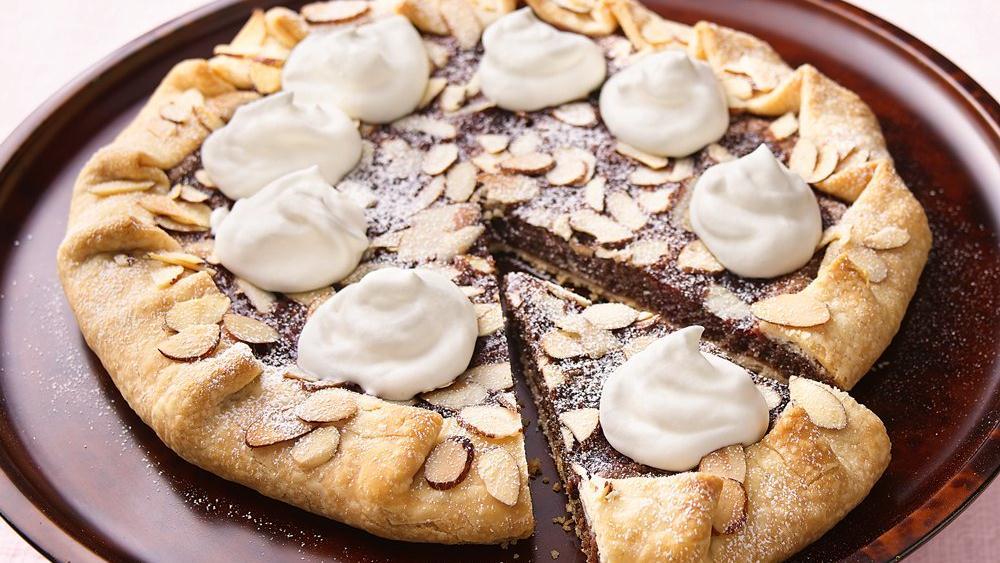 Raspberry-Kissed Chocolate-Almond Crostada