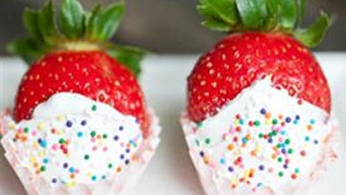 Champagne Soaked, Frosting Covered Strawberries