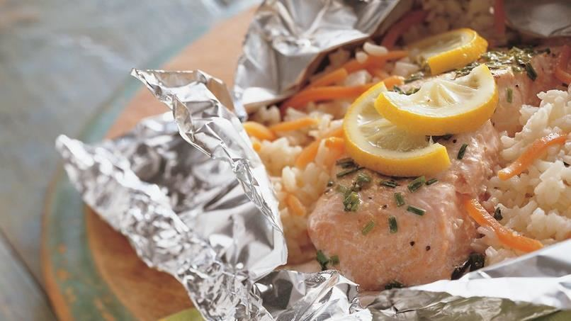 Grilled Lemon and Herb Salmon Packs