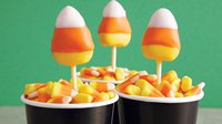 Candy Corn Halloween Cake Pops