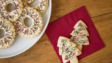 Holiday Sprinkle Cutout Cookies