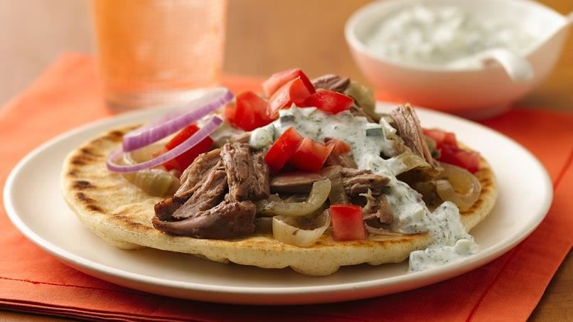 Slow-Cooker Shredded Turkey Gyros