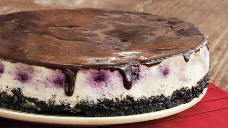 Cherry Cheesecake with Ganache