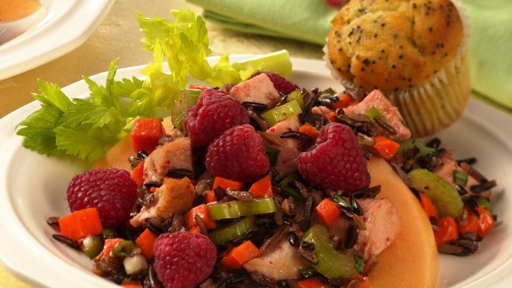 Tarragon Chicken, Wild Rice and Raspberry Salad
